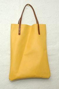 Image of Leather shopper - gul