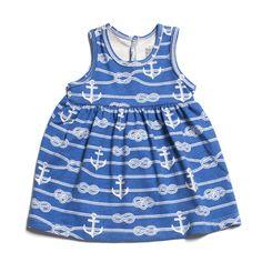 Oslo Baby Dress - Ropes & Anchors Ocean Blue