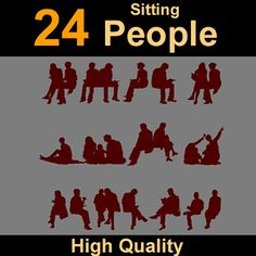 Human Silhouettes sit Model available on Turbo Squid, the world's leading provider of digital models for visualization, films, television, and games. Silhouettes, Maya, Models, 3d, Movie Posters, Role Models, Silhouette, Modeling, Model
