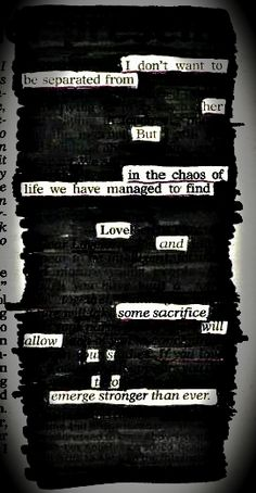 In The Chaos of Life - By Kevin Harrell    Dedicated to my wife - Genilyn  www.blackoutpoetry.net