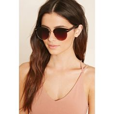 Forever21 Contrast Browline Sunglasses (€7,47) ❤ liked on Polyvore featuring accessories, eyewear, sunglasses, forever 21 glasses, forever 21 and forever 21 sunglasses