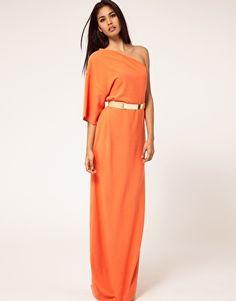 ASOS Aqua Kimono Maxi Dress with Metal Belt
