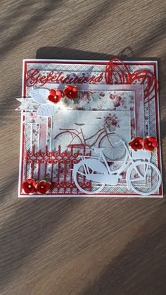3d Cards, Stampin Up Cards, Girl Birthday, Birthday Cards, Bicycle Cards, Diy And Crafts, Paper Crafts, Marianne Design, Pretty Cards