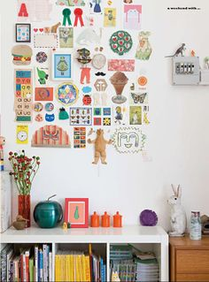 Wall of kids arty things <3