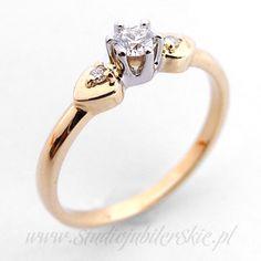 Złoty pierścionek z brylantami 0,17 ct PK0156MK