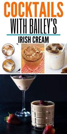 Cocktails With Bailey's Irish Cream Baileys And Vodka, Baileys Cocktails, Sweet Cocktails, Irish Cream Drinks, Baileys Irish Cream, Dessert Drinks, Yummy Drinks, Baileys Iced Coffee