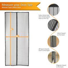 Mesh Screen Door, Magnetic Screen Door, Screen Doors, Window Treatments, Magnets, Diy Home Decor, Backyard, Kitchen, Top