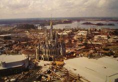 I love seeing Disney World construction photos... Magic Kingdom