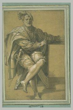 ABATE Nicolo' dell' Ecole lombarde Un homme assis en costume espagnol