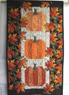 Oranges of Autumn 2011 Door banner | cmhCreations - Quilts on ArtFire