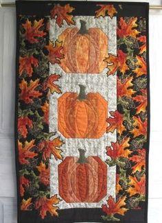 Oranges of Autumn 2011 Door banner | cmhCreations - Quilts on ArtFire