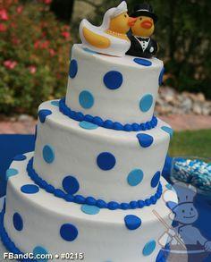 "Design W 0215 | Butter Cream Wedding Cake | 12""+9""+6""  | Serves 100 | Colored Fondant Polka Dots | Custom Quote"