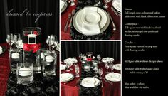Dressed To Impress is just one of the many options of Pre Designed packages available at www.StageRightRentals.com. Priced per table including delivery ( within Kelowna) , set up and take down! Serving the Okanagan Valley.