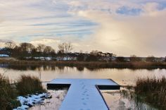 The pond- a pond in Northumberland where i grew up, covered in snow.