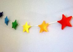 Felt rainbow stars garland / banner / bunting - nursery decor - birthday decor - living room decor - childrens room decor €40.00 http://www.etsy.com/shop/poppenatelier