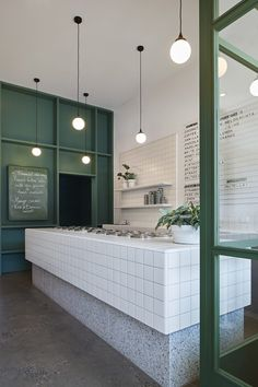 Piccolina Gelateria by Hecker Guthrie - Local Interior Design - Melbourne Piccolina St Kilda by Hecker Guthrie is a fresh invitation to take a stroll back in time to Italy. Perched amongst fr Interior Design Trends, Australian Interior Design, Interior Inspiration, Green Interior Design, Shop Interior Design, Luxury Interior, Modern Interior, Modern Decor, Design Inspiration