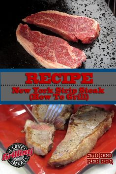 For this simple New York Strip Steak recipe we are going to grill on an Island Grillstone. We will be using all-natural beef steaks . Rib Recipes, Steak Recipes, Grilling Recipes, Sauce Recipes, Guinness Bbq Sauce Recipe, Dry Aged Ribeye, Beef Steaks, Smoked Beef Brisket, Homemade Bbq