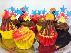 Firefighter Cakes, Fireman Sam Cake, 3rd Birthday Cakes, 3rd Birthday Parties, Birthday Ideas, Fireman Birthday, Fireman Party, Fun Cupcakes, Fire Truck
