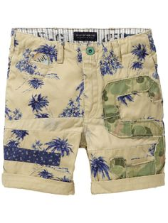 Freeman Shorts - Palm tree | Denim Shorts | Boys Clothing at Scotch & Soda