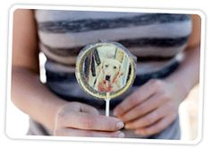DIY: How to Make Photo Lollipops Tutorial from Photojojo (includes link on where to get custom edible photos printed) - COOL!