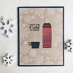 It's Cold Outside Card by Heather Nichols for Papertrey Ink (October 2016)