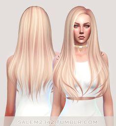 Salem2342: Butterfly`s 145 hair retextured - Sims 4 Hairs - http://sims4hairs.com/salem2342-butterflys-145-hair-retextured/