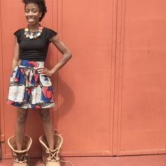 Only this print left in the shorter style of this skirt so don't delay in picking it up today! Doesn't hurt that you're supporting small business and women in Uganda. #ankara #ankaraprint #ankarastyles #ankarafashion #jupewax #waxskirt #maxiskirt #miniskirt #africanstyle #africanfashion #africanskirt