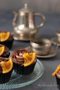 Cupcakes de chocolate y naranja confitada