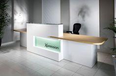 Stark White Contemporary Reception Area | IKEA Reception Desk