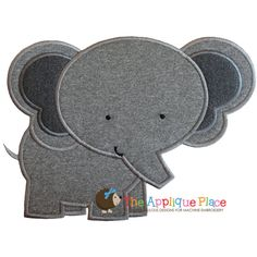 Elephant Machine Embroidery Applique Design by TheAppliquePlace