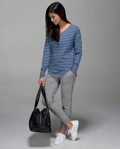 lululemon Weekend LS | Lux Indigo/White (LUXI/WHT)