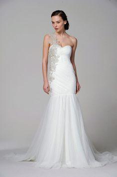 Marchesa-Wedding-Dress-2013 - Read More on One Fab Day http://onefabday.com/marchesa-bridal-2013/