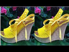 Como tejer un zapato en crochet por Myriam Mora - YouTube