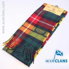 Pure wool lambswool brushed tartan scarf in Buchanan Modern tartan -  available from ScotClans 60939dd84490