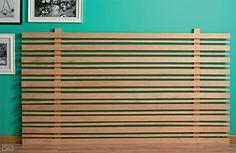 Aprenda a fazer uma cabeceira de ripas de madeira - Casa
