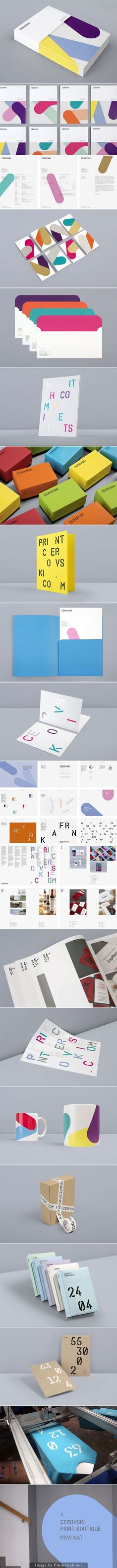 (17) Cerovsky Print Boutique Identity by Bunch | {packaging} | Pinterest / Branding / Ideas / Inspiration / Brand / Design / Print / Agency / Graphic / Bold / Complementary / Colors / Modern / Colorful