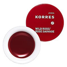 Korres Lip Butter in Wild Rose - sheer deep red #sephora. Tinted lip balm. Make-up for extra-special occasions.