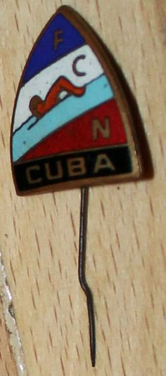 vintage SWIMMING DIVING-Water POLO Olympic Sport Federation Pin Badge cuba