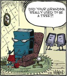 Did your grandma really use to be a tree?