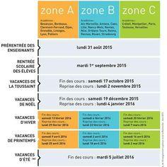 Fransa 2015-2016 Eğitim Yılı Takvimi