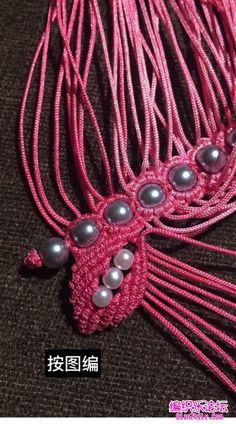 点击查看原图 Beaded Necklace Patterns, Bracelet Tutorial, Ideas, Flower, Necklaces, Flakes, Thoughts