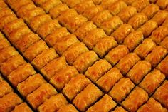 Warm Baklava with Nuts & Honey ~ Pioneer Woman's #recipe - Personal favorite dessert with Turkish coffee!