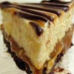 Browniecheesecake met toffee