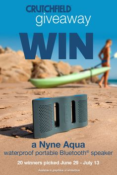 I entered the @Crutchfield Sweeps to win 1 of 20 @nyneaudio Aqua BT speakers. You can too – #GGGEntry #win