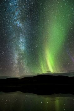 Spectacular - the Milky Way and Northern Lights.