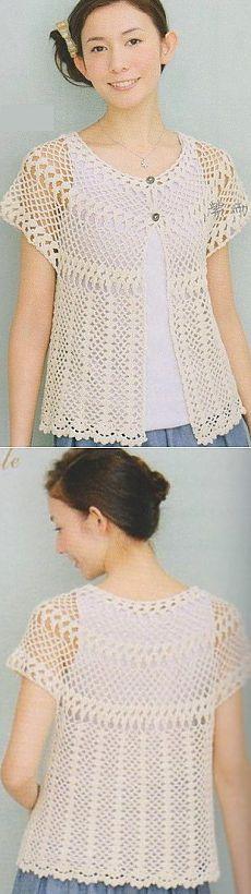Blusa com crochet jugo