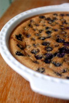 gluten-free blueberry calfoutis. this looks delicious