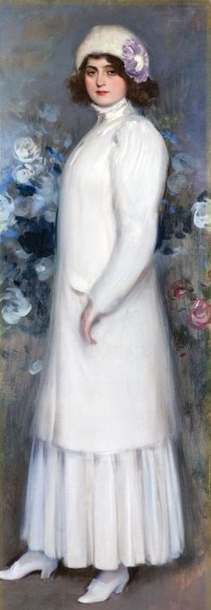 ▴ Artistic Accessories ▴ clothes, jewelry, hats in art - Ramon Casas i Carbó | The English Lady