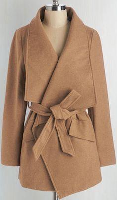 Stylish brown thick coat