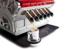 This Coffee Maker is Made From an Actual Race Car Engine! The Espresso Veloce Titania Best Espresso, Espresso Maker, Coffee Maker, Espresso Coffee, Italian Espresso, Coffee To Go, Best Coffee, Making Coffee, Coffee Blog